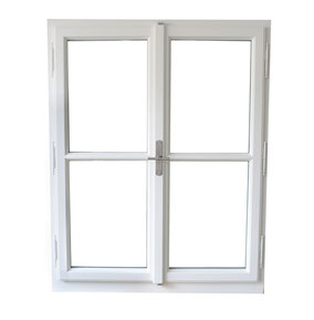 Isolierglasfenster, Einfachfenster, Holz Alu Fenster, weiß, schmale Profile, Holz Alu