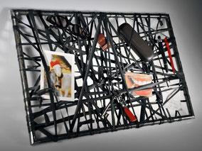 Wandobjekt und Aufbewahrungssystem Schlauchorell aus Fahrradschlauch und Eisen von Stef Fauser Design Berlin