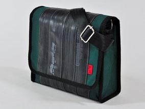Tasche Towninger grün aus Fahrradschlauch und Cordura von Stef Fauser Design