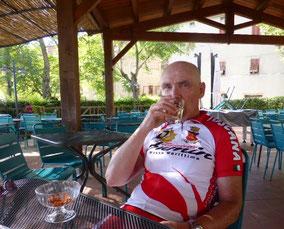 Der Tourguide genießt den Toskana Urlaub