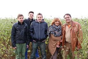 Familienfoto in der nähe von Memmingen im November aufgenommen