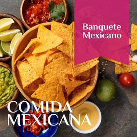 Banquetes de comida mexicana