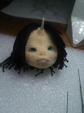 羊毛フェルト 創作節分鬼 人形 鬼