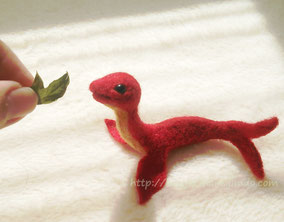 羊毛フェルト 金魚 小赤 ドラゴン