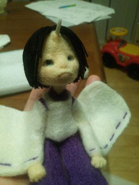 羊毛フェルト 鬼 節分鬼 人形