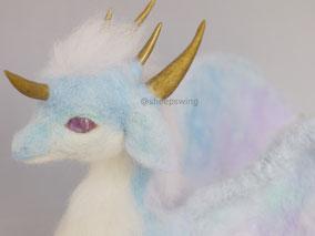 羊毛フェルト オーダー ドラゴン 竜