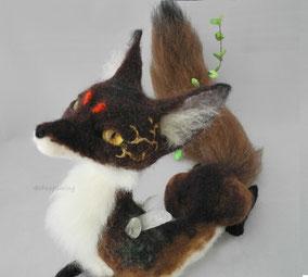 狐 デザフェス 羊毛フェルト ひつじのはね