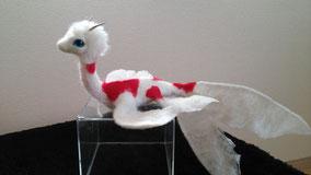 羊毛フェルト ドラゴン 金魚 コメット