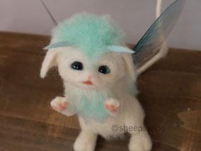 壱の森の幼獣 幻獣 羊毛フェルト ひつじのはね
