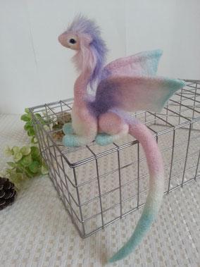 紫陽花 羊毛フェルト ドラゴン フェアリー