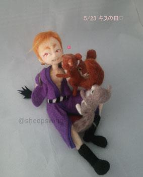 岩融 刀剣乱舞 とうらぶ 羊毛フェルト 人形