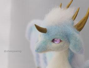 羊毛フェルト オーダー ドラゴン 瞳