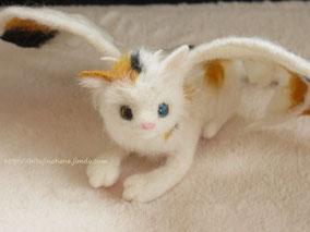 羊毛フェルト ドラゴン ねこ 猫