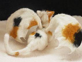 羊毛フェルト ねこ ドラゴン 猫