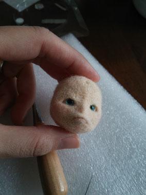 羊毛フェルト 創作節分鬼 鬼 人形
