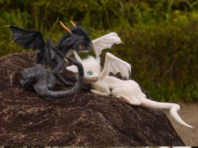 羊毛フェルト デザフェス ドラゴン ふたご竜