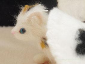 羊毛フェルト ドラゴン 猫 ねこ