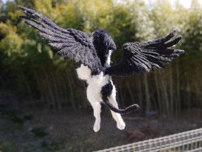 羊毛フェルト グリフォン 幻獣 羽