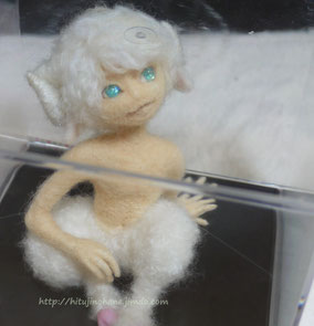 ひつじ半獣 獣人 羊毛フェルト 人形 男