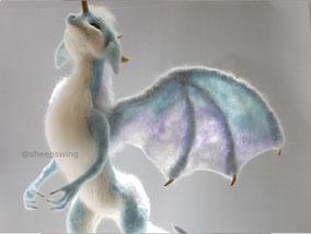 羊毛フェルト オーダー ドラゴン 翼 羽