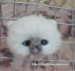 リアル系?羊毛フェルト猫 cat magnet