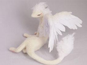 羊毛フェルト 光の守護獣 幻獣 ドラゴン