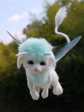 羊毛フェルト 幻獣 ファンタジー ひつじのはね