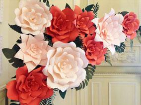 Photobooth de flores de papel