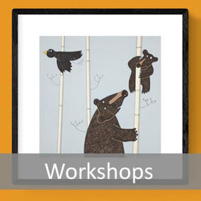 fun animal artwork art prints workshops