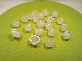 mattierte 14mm Perlen