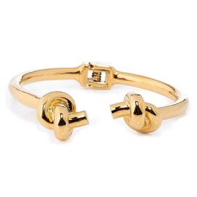 Armreif Gold, Knoten Armreif, Knot Bracelet