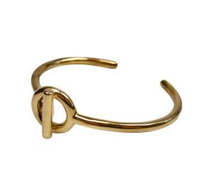 Armreif Gold, Steigbügel Armreif, Cuff Bracelet