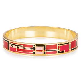 Armreif Gold, Emaille Armreif, Enamel Bracelet