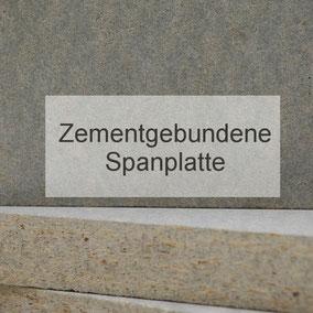 Produktsortiment, zementgebundene Spanplatte