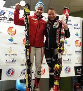 Winner Deaf Ski EC 2014 Christof Lebelhuber AUT + Rea Hraski CRO