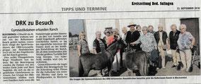 Kreiszeitung Red. Sulingen - Annette Engelhardt und die DRKler aus Neuenkirchen