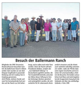 Kreiszeitung Red. Bassum - Neubruchhausener DRKler mit Annette u. Andre Engelhardt