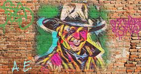 Andre Engelhardt als Grafitti