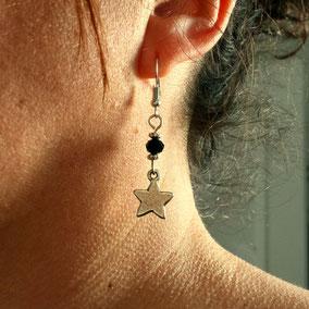 Boucles d'oreilles argent boucles d'oreilles ETOILE fait main en France