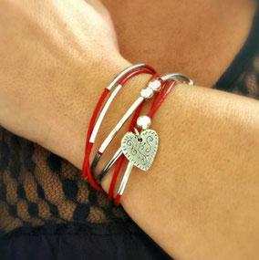 LOVELY -  bracelet cuir bracelet femme bracelet wrap fait main