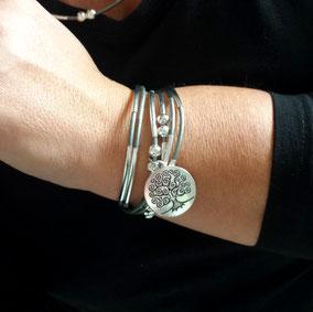 Bracelet FAMILLE bijou 2 en 1 pêrsonnalisable et transformable fait main en France