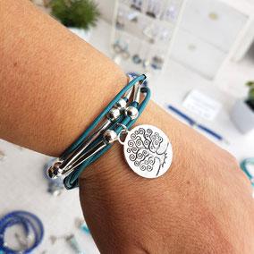 Famille - Bracelet transformable et personnalisable arbre de vie bracelet fait main