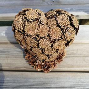 Coeur 3d sur son socle