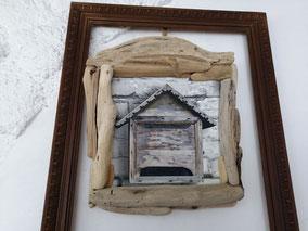 tableau boite aux lettres avec bois flotté