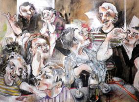 """Scène de restaurant"" 120/160cm, 2010"