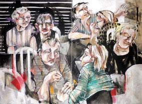 «Scène de restaurant, 2» 120/160cm, 2011
