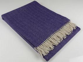 Decke Merino Royal, Lavendel. mimundo24.de