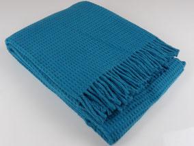 Baumwoll- Decke Nizza, ocean blue.  mimundo24.de