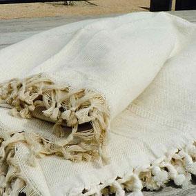 Fouta tunisienne de plage canapé Jetés de lit fouta grande taille