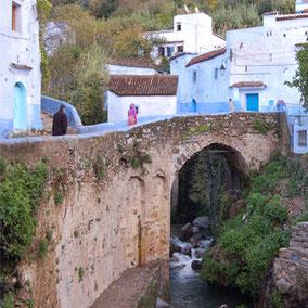 Die blaue Stadt in Marokko